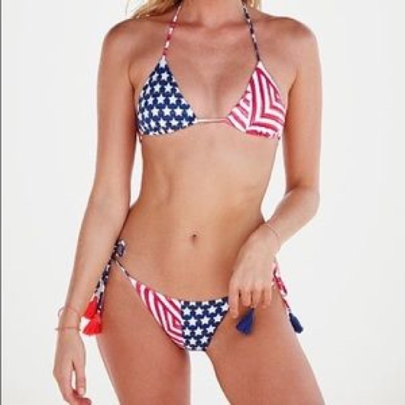 956d505bb390e Victoria's Secret Swim | Victorias Secret Patriotic Teeny String ...